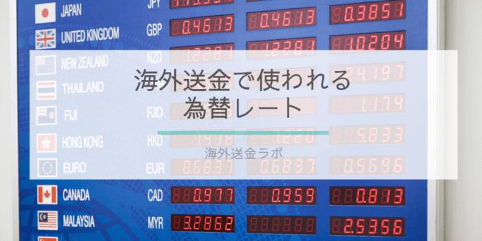 海外送金で使われる為替レートの画像